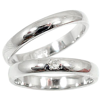 結婚指輪 マリッジリングペアリング ダイヤ ダイヤモンド ソリティア ブラックダイヤモンド プラチナ900指輪PT900 ハンドメイド2本セット 甲丸【コンビニ受取対応商品】 指輪 大きいサイズ対応 送料無料
