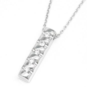 ダイヤモンド シンプル ペンダント ネックレス sv925 シルバー レディース メンズ 4月の誕生石【コンビニ受取対応商品】