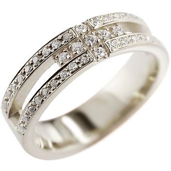 クロス プラチナ リング ダイヤモンド ダイヤ 幅広 指輪 ピンキーリング メンズ レディース【コンビニ受取対応商品】 大きいサイズ対応 送料無料