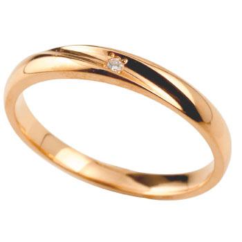 ダイヤモンドリング 指輪 ダイヤ ピンクゴールドk18 レディース メンズ18k 18金【コンビニ受取対応商品】 大きいサイズ対応 送料無料