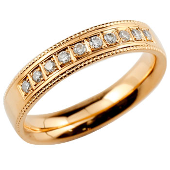 ダイヤモンドリング 婚約指輪 エンゲージリング 指輪 ダイヤ シンプルストレート ピンクゴールドk18 レディース18k 18金【コンビニ受取対応商品】 大きいサイズ対応 送料無料
