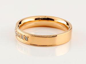 ダイヤモンドリング 婚約指輪 エンゲージリング 指輪 ダイヤ シンプルストレート ピンクゴールドk18 レディース18k 18金 楽ギフ 包装コンビニ受取対応商品大きいサイズ対応 送料無料uOXPZik