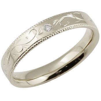 ゴージャスなダイヤリング ダイヤモンドリング 婚約指輪 エンゲージリング 指輪 ダイヤ ストレートホワイトゴールドk18 ミル打ち レディース18k 18金【コンビニ受取対応商品】 大きいサイズ対応 送料無料