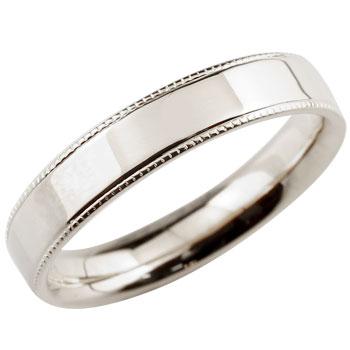 [送料無料]プラチナリング 指輪 シンプルストレート プラチナ900 エンゲージリング 婚約指輪 ミル打ち メンズ レディース 地金リング【コンビニ受取対応商品】