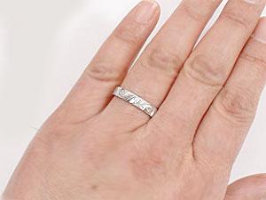 []エンゲージリング 結婚指輪 婚約指輪 プラチナリング ハワイアンリング ミル打ち つや消し ハワジュ【楽ギフ_包装】【コンビニ受取対応商品】