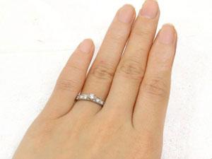 []エタニティリング エンゲージリング ダイヤモンドリング ピンキーリング ホワイトゴールドK18 婚約指輪 立て爪【楽ギフ_包装】【コンビニ受取対応商品】