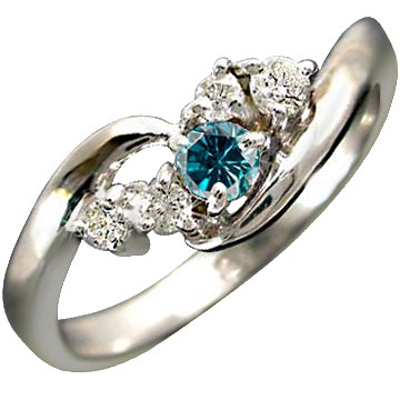 指輪 プラチナリング エンゲージリング ダイヤモンド ブルーダイヤモンド リング ピンキーリング ダイヤ0.17ct 結婚指輪 婚約指輪【コンビニ受取対応商品】 大きいサイズ対応 送料無料