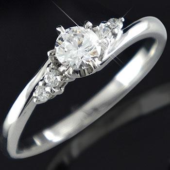 鑑定書付 婚約指輪 ダイヤモンド リング ダイヤ0.27ct 一粒ダイヤモンド大粒ダイヤモンドVSクラス プラチナリング 指輪 エンゲージリング 立て爪【コンビニ受取対応商品】 大きいサイズ対応 送料無料