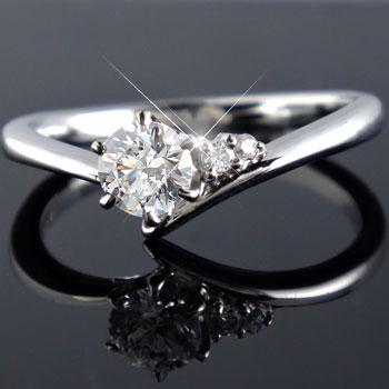 エンゲージリング ダイヤモンド リング ダイヤ0.33ct 一粒ダイヤモンド大粒ダイヤモンド 指輪 婚約指輪 ホワイトゴールドK18【コンビニ受取対応商品】 大きいサイズ対応 送料無料