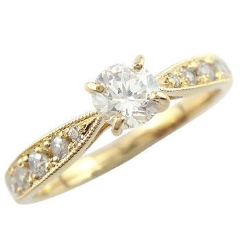 エンゲージリング 婚約指輪 ダイヤモンド0 30ct リング イエローゴールドK18 結婚指輪 一粒ダイヤモンド大粒ダイヤモンド SIクラス 鑑定書付 立て爪 楽ギフ 包装コンビニ受取対応商品大きいサイズ対応 送料無料beDIEYH9W2