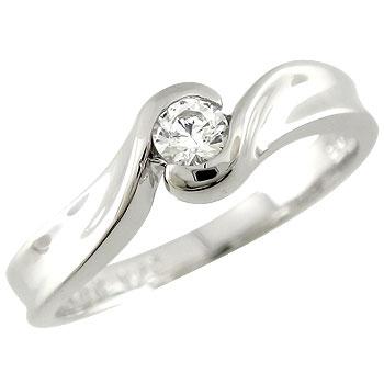[送料無料]鑑定書付 エンゲージリング 婚約指輪 ダイヤモンド リング SIクラス 一粒ダイヤ ダイヤ0.10ct 指輪 ホワイトゴールドk18 爪なし18k 18金【コンビニ受取対応商品】