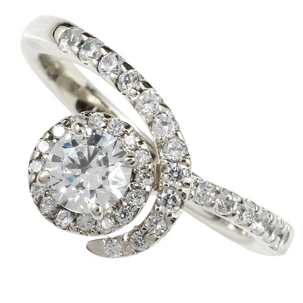 鑑定書付き ダイヤモンドリング ダイヤ リング ホワイトゴールドk18 エンゲージリング 婚約指輪 指輪 VSクラス 0.30ct 取り巻き レディース【コンビニ受取対応商品】 大きいサイズ対応 送料無料