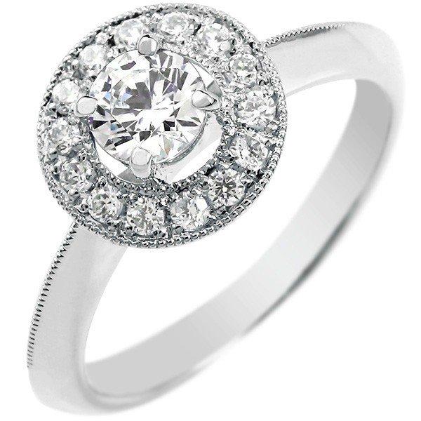 婚約指輪 エンゲージリング ダイヤモンドリング リング ホワイトゴールドk18 18金 18k 大粒 ダイヤモンド リング 0 30ct 取り巻き ミル打ち レディース 楽ギフ 包装コンビニ受取対応商品大きいサイズ対応 送料無料wPkX8n0O