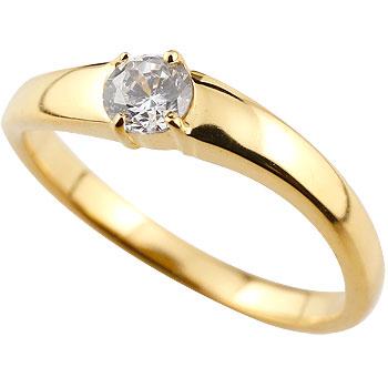 ダイヤモンドリング ダイヤ 大粒 指輪 ダイヤモンド リング 一粒 イエローゴールドk18 18金 ストレート レディース【コンビニ受取対応商品】 大きいサイズ対応 送料無料