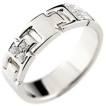 [送料無料]婚約指輪 エンゲージリング ダイヤモンドリング 指輪 ダイヤモンド リング ホワイトゴールドk18 ピンキーリング ダイヤ 幅広 k18 レディース【コンビニ受取対応商品】