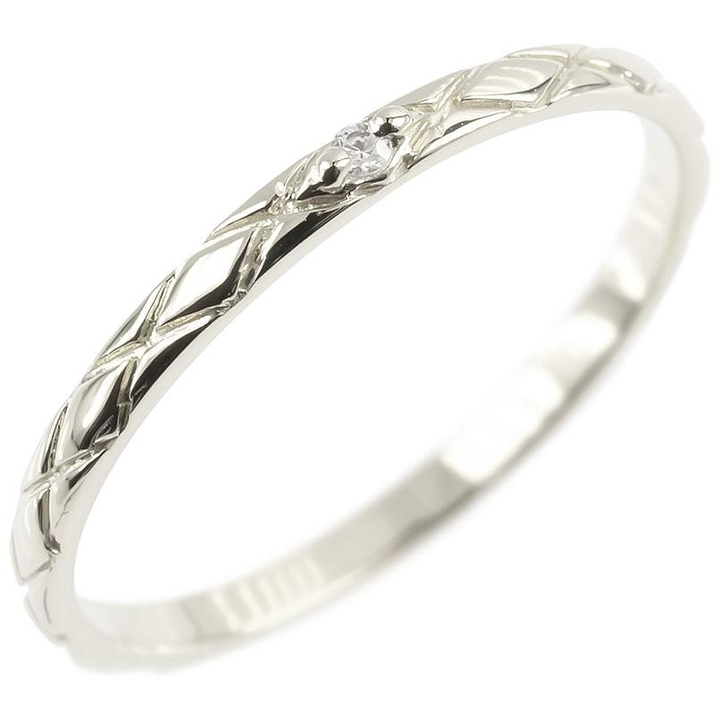 シンプル ダイヤモンドリング ホワイトゴールドk18 ピンキーリング 指輪 華奢リング アンティーク 重ね付けリング 指輪 細め 細身 18k 18金 レディース【コンビニ受取対応商品】 大きいサイズ対応 送料無料