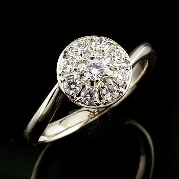 [送料無料]婚約指輪 エンゲージリング ダイヤモンドリング ホワイトゴールドk18 指輪 取り巻き スパイラル レディース 18k 18金【コンビニ受取対応商品】