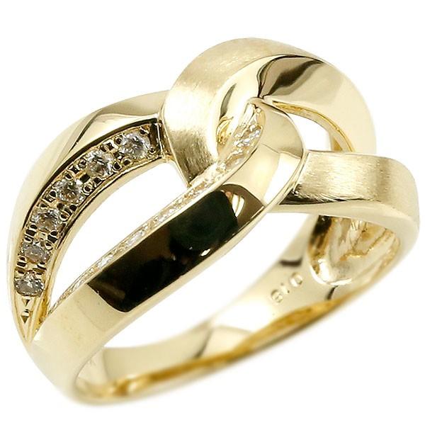 18金 ダイヤモンドリング イエローゴールドk18 指輪 18k 18金 幅広 艶消し 婚約指輪 エンゲージリング ピンキーリング レディース【コンビニ受取対応商品】 大きいサイズ対応 送料無料