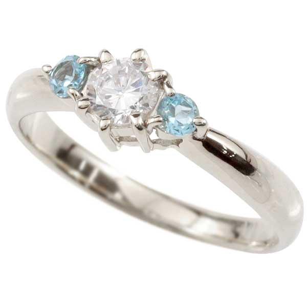 鑑定書付 婚約指輪 エンゲージリング ダイヤモンドリング ブルートパーズ 指輪 大粒ダイヤ VSクラス ホワイトゴールドK18 18金 ダイヤモンド リング 11月誕生石 レディース楽ギフ 包装コンビニ受取対応商品大きいサイズ対応 送料無料0wknNX8OP
