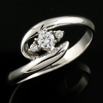 婚約指輪 エンゲージリング ダイヤモンドリング 指輪 ダイヤ リング ホワイトゴールドK18 ダイヤモンド 0.13ct 【コンビニ受取対応商品】 大きいサイズ対応 送料無料