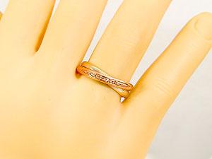 18金 婚約指輪 エンゲージリング 指輪 リング 指輪 イエローゴールドK18 ピンクゴールドk18 ピンキーリング ダイヤ ダイヤモンド リング コンビリング コンビネーションリング 爪なし 18k 楽ギフ 包装コンビニ受取対応商品大きいサイズ対応 送料無料WEH29beYDI