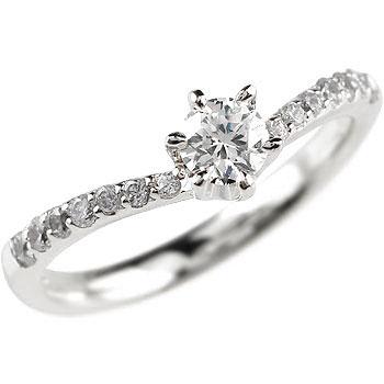 鑑定書付 指輪 プラチナリング ダイヤモンドリング 0.3ct 婚約指輪 エンゲージリング 一粒ダイヤモンド大粒ダイヤモンド SIクラス 立て爪【コンビニ受取対応商品】 大きいサイズ対応 送料無料