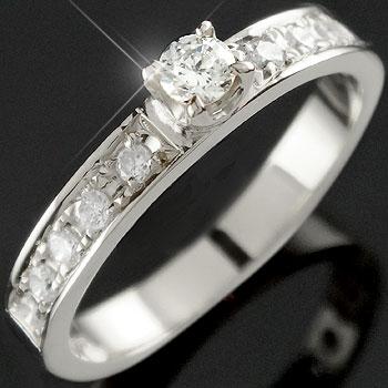 エタニティリング エンゲージリング ダイヤモンドリング ピンキーリング ホワイトゴールドK18 婚約指輪 立て爪【コンビニ受取対応商品】 大きいサイズ対応 送料無料