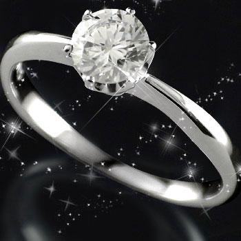 立爪 鑑定書付き 指輪 婚約指輪 エンゲージリング ダイヤ ダイヤモンド 指輪 プラチナリング 一粒ダイヤモンド 大粒ダイヤモンド0.50ct SIクラス 立て爪【コンビニ受取対応商品】 大きいサイズ対応 送料無料