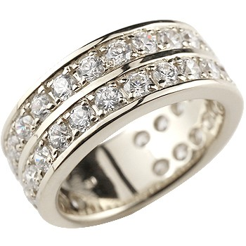 婚約指輪 エンゲージリング ハーフエタニティ ダイヤモンド リング プラチナ リング ダイヤモンドリング 2.0ct 幅広 レディース 【コンビニ受取対応商品】 大きいサイズ対応 送料無料