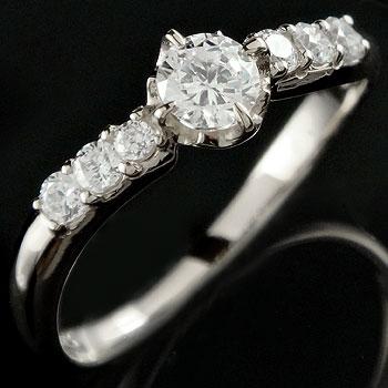 ダイヤモンドリング 婚約指輪 エンゲージリング ホワイトゴールドk18 18金 レディース【コンビニ受取対応商品】 大きいサイズ対応 送料無料