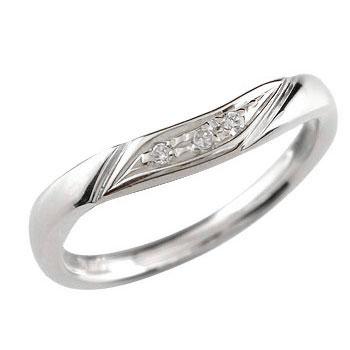 指にすっとなじむ着け心地は毎日のジュエリーパートナーにピッタリ ダイヤモンドリング 婚約指輪 エンゲージリング ホワイトゴールドk18 リング 指輪 ピンキーリング ソフトライン18k 18金【コンビニ受取対応商品】 大きいサイズ対応 送料無料