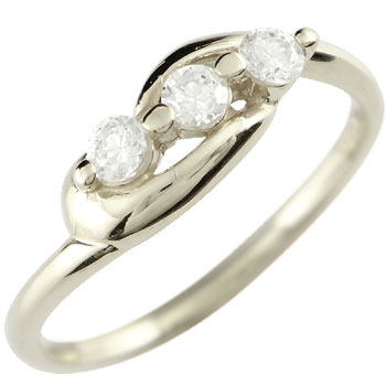 ダイヤモンド リング 指輪 ホワイトゴールドk18 ダイヤモンドリング レディース18k 18金【コンビニ受取対応商品】 大きいサイズ対応 送料無料