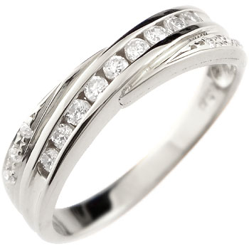 上品な煌めきと清楚な輝きが品格と華やかさをプラス ダイヤモンドリング 婚約指輪 エンゲージリング ホワイトゴールドk18 リング ピンキーリング レディース18k 18金【コンビニ受取対応商品】 大きいサイズ対応 送料無料