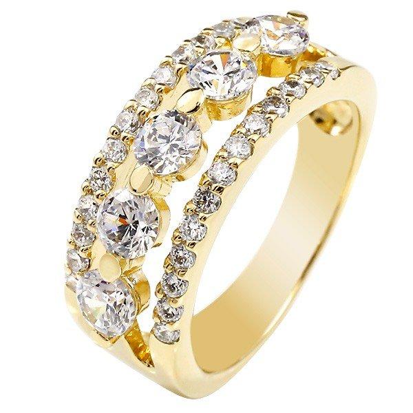 ダイヤモンドリング イエローゴールドk18 リング 幅広 ダイヤモンド リング 18金 レディース【コンビニ受取対応商品】 送料無料