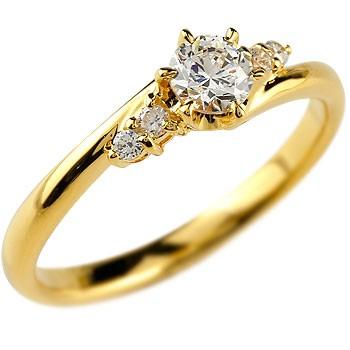 婚約指輪 エンゲージリング ダイヤモンドリング イエローゴールドk18 ダイヤ0.27ct 一粒ダイヤモンド 大粒ダイヤモンド リング 指輪 【コンビニ受取対応商品】 大きいサイズ対応 送料無料