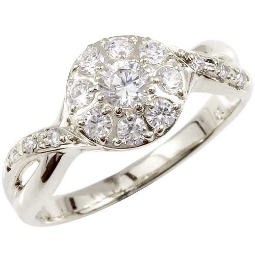 ダイヤモンドリング プラチナ 指輪 取り巻き スパイラル レディース 【コンビニ受取対応商品】 大きいサイズ対応 送料無料
