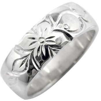 ハワイアンジュエリー ハワイアンリング 指輪 ホワイトゴールドK18 ハワジュ【コンビニ受取対応商品】 大きいサイズ対応 送料無料