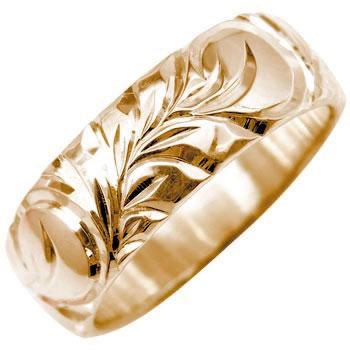 ハワイアンジュエリー ハワイアンリング 指輪 ピンクゴールドK18 K18PG ハワジュ レディース メンズ【コンビニ受取対応商品】 大きいサイズ対応 送料無料