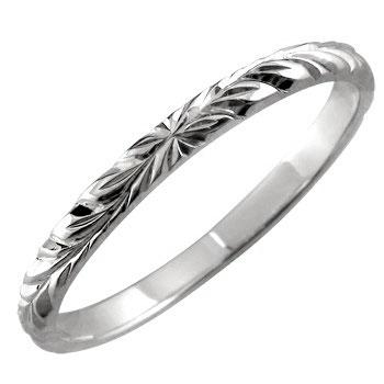 ハワイアンジュエリー ハワイアンリング 指輪 ホワイトゴールドK18 小指に記念にお守りとして K18WG ハワイ ハワジュ【コンビニ受取対応商品】 大きいサイズ対応 送料無料