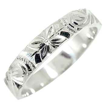 ハワイアンジュエリー ダイヤモンド ハワイアンリング 指輪 プラチナリング 小指に記念にお守りとして ハワイ 一粒ダイヤモンド ミル打ち ハワジュ【コンビニ受取対応商品】 大きいサイズ対応 送料無料