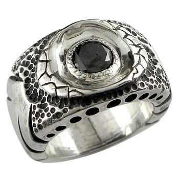 [送料無料]メンズジュエリー メンズ リング シルバー925 いぶし仕上げ ブラックダイヤモンド 1.0ct リング 幅広 指輪 男性用【コンビニ受取対応商品】