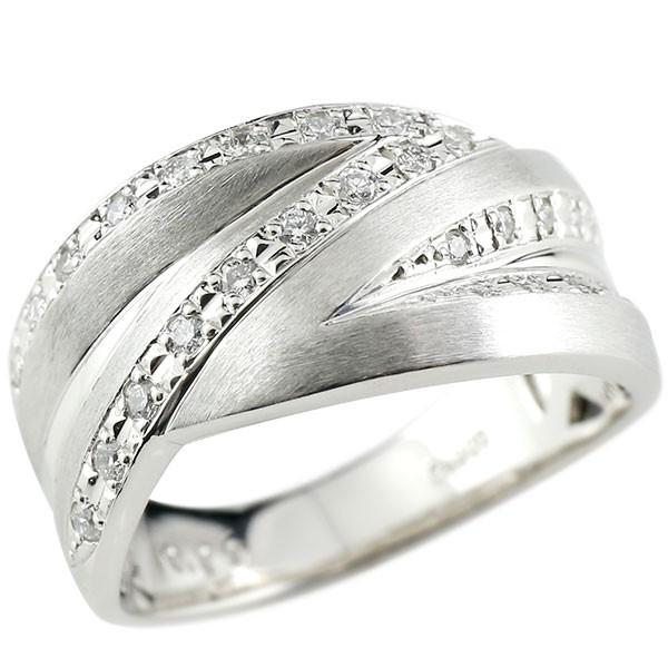 18金 メンズ リング 幅広 リング 指輪 ホワイトゴールドk18 18k ダイヤモンド ピンキーリング ホーニング加工 つや消し 立体的 男性用 メンズジュエリー【コンビニ受取対応商品】 大きいサイズ対応 送料無料