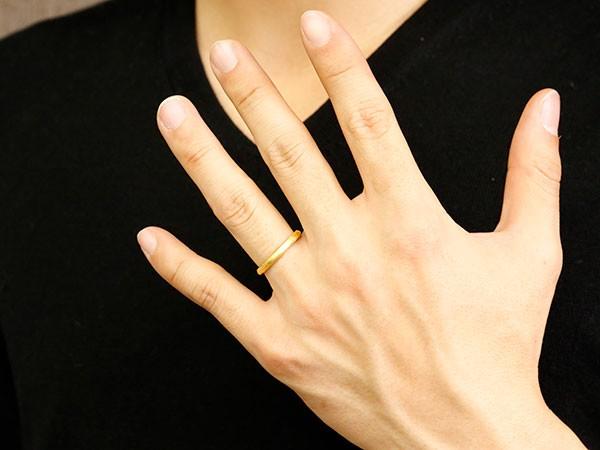 [] メンズ 男性用 純金 24金 k24 リング 指輪 k24 ピンキーリング デザインリング 荒らし ホーニング加工 17号 18号 19号 20号 21号【楽ギフ_包装】【コンビニ受取対応商品】