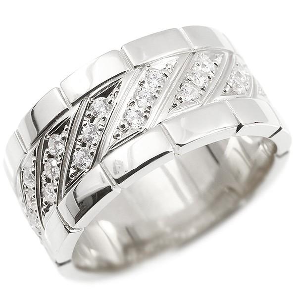 プラチナ メンズ リング 幅広 リング 指輪 Pt900 プラチナ900 ダイヤモンド ピンキーリング 男性用 メンズジュエリー【コンビニ受取対応商品】 大きいサイズ対応 送料無料