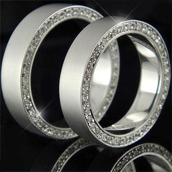フルエタニティリング 結婚指輪 2本セット ペアリング ダイヤモンドリング マリッジリング シルバー 指輪 幅広【コンビニ受取対応商品】 指輪 大きいサイズ対応 送料無料