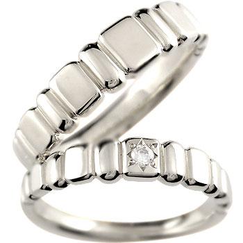 ペアリング ホワイトゴールドk18 ダイヤ ダイヤモンド 結婚指輪 マリッジリング ハンドメイド 2本セット18k 18金【コンビニ受取対応商品】 指輪 大きいサイズ対応 送料無料