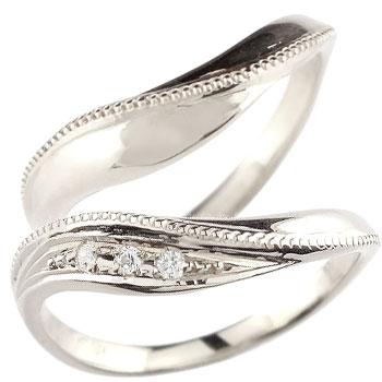 ペアリング プラチナ 結婚指輪 ダイヤモンド マリッジリング ハンドメイド 2本セット ミル打ち コンビニ受取対応商品 指輪 大きいサイズ対応 送料無料 ブライダル 特価 迎春 葬儀 当店おすすめ 旅行
