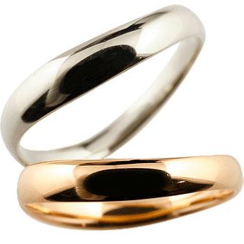 [送料無料]V字 ペアリング 結婚指輪 マリッジリング ホワイトゴールドk18 ピンクゴールドk18 地金リング 結婚式 シンプル 宝石なし18k 18金【コンビニ受取対応商品】