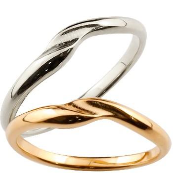 [送料無料]ペアリング 結婚指輪 マリッジリング 地金リング ホワイトゴールドk18 ピンクゴールドk18 結婚記念 つや消し ダイヤモンドポイント加工 ダイヤポイント あらし アンティーク加工 18金 地金リング 宝石なし 2本セット