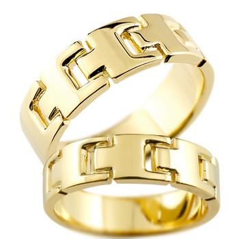 ペアリング マリッジリング 結婚指輪 結婚記念リング ウェディングリング ウェディングバンド イエローゴールドk18 18金 地金リング 幅広 2本セット【コンビニ受取対応商品】 指輪 大きいサイズ対応 送料無料